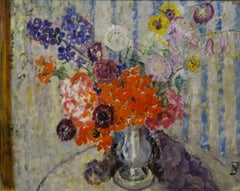 Flowers on the table  Oil  cm. 33 x 42
