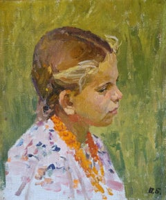 Young girl  oil cm. 23 x 27  1954