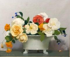 """""""Floral composition"""" Pastel  cm. 44 x 36  1915 ca"""
