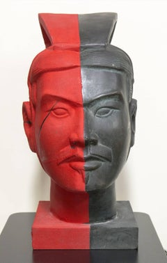 Color Xi'An    bronze sculpture and fabric   2016