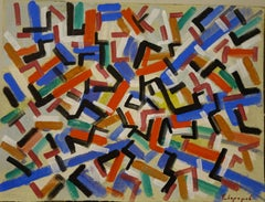 """""""Abstract composition"""" cm. 36 x 27  Tempera   1920?"""