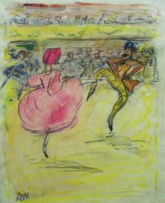 """""""At the cabaret""""  Pastel cm. 25 x 28 1906"""