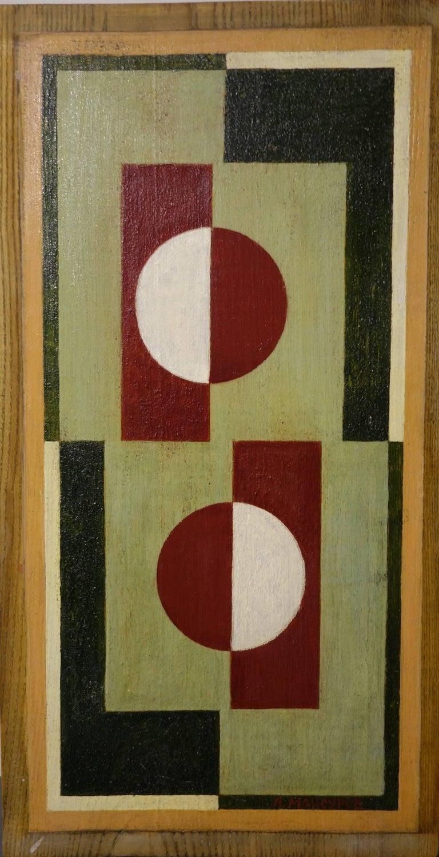 Geometric composition  Oil  cm. 31 x 59