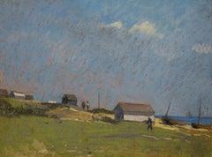 """Baraques"" ( near Deal, England)  Pastel   cm. 24 x 32   1910"
