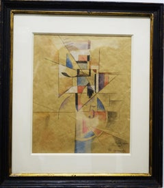 """""""Suprematist composition""""  Colored pencil and ink   cm. 27 x 32 1920"""