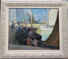 """L'arrivée au port"""" Douarnenez Oil cm.73 x 60  1922"""
