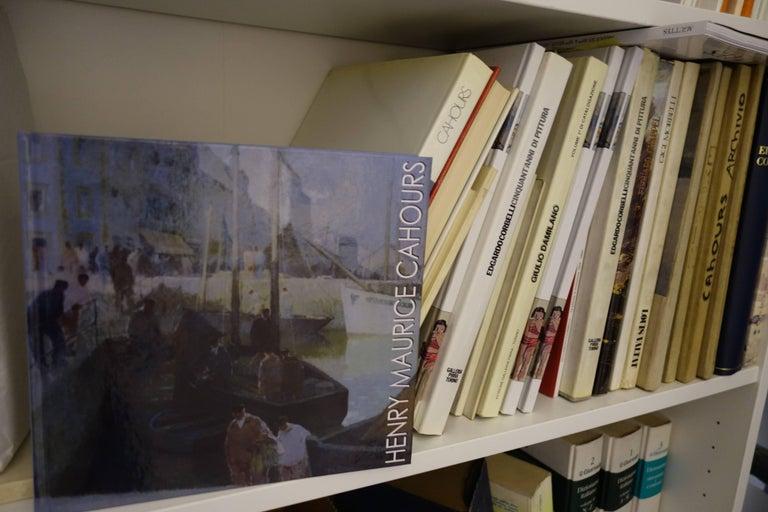 Les falaises (Entretat)   Gouache    cm. 41 x 32  1930  - Impressionist Painting by Henri Maurice CAHOURS