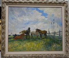 Wild horses  Oil  cm. 95 x 78   1980