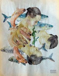 """""""Aquatic Link""""    watercolour  cm. 22 x 28    2018"""