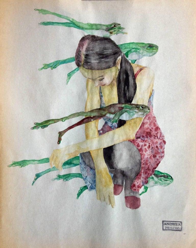 """""""Risaie sciutte    watercolour  cm. 22 x 28   2018"""