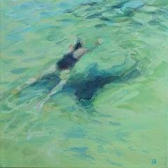 Swimmer    Oil  cm. 30 x 30