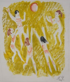 """volleyball""    cm. 16 x 20 watercolor 1970"