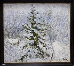"""Winter"" Oil cm. 85 x 75"