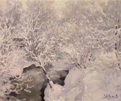 """Frost in the forest""   Oil  cm. 58 x 49 1997"