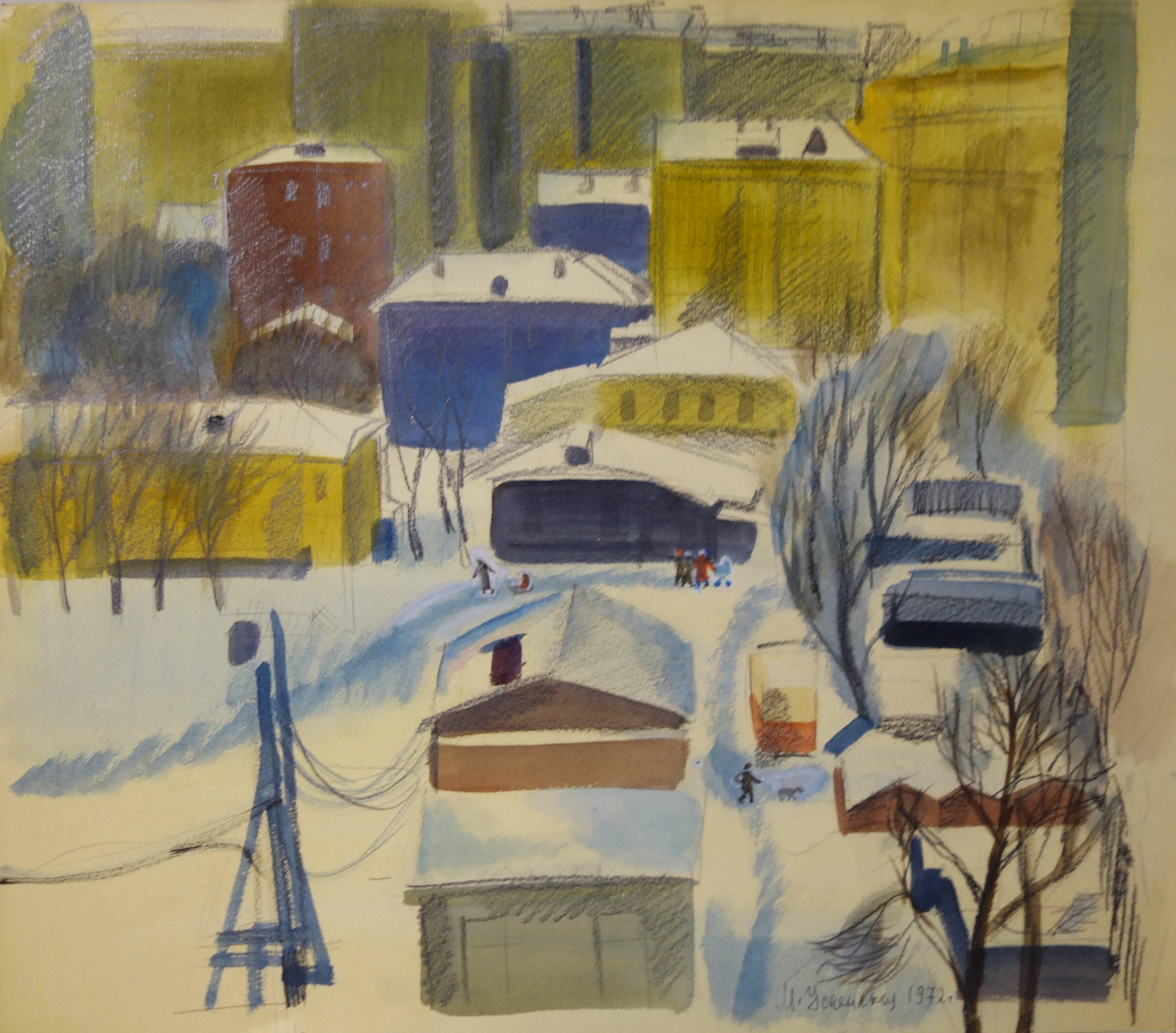 """Moscow  "" Tempera color  cm. 52 x 46"