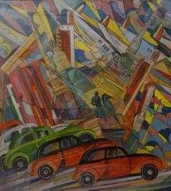 """Turin Futurist ""  cm. 50 x 55     Oil  1930"