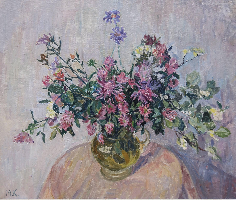 """""""rose flowers"""" Rose,Green,Flowers cm. 66 x 55 Oil"""