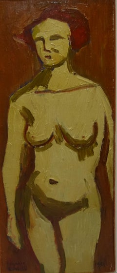 """ Orange Nude ""Oil  cm. 25 x 60   1952"