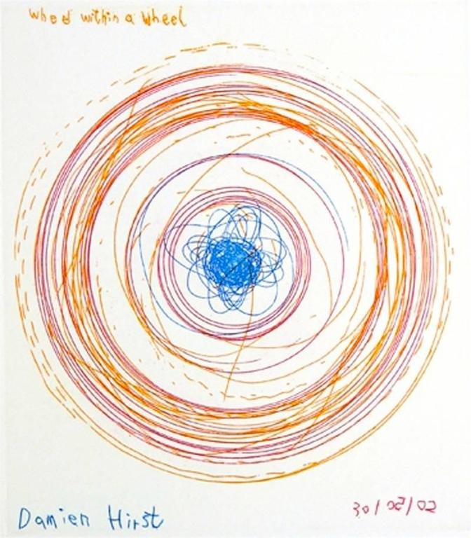 Wheel Within A Wheel, from In A Spin Series - Print by Damien Hirst
