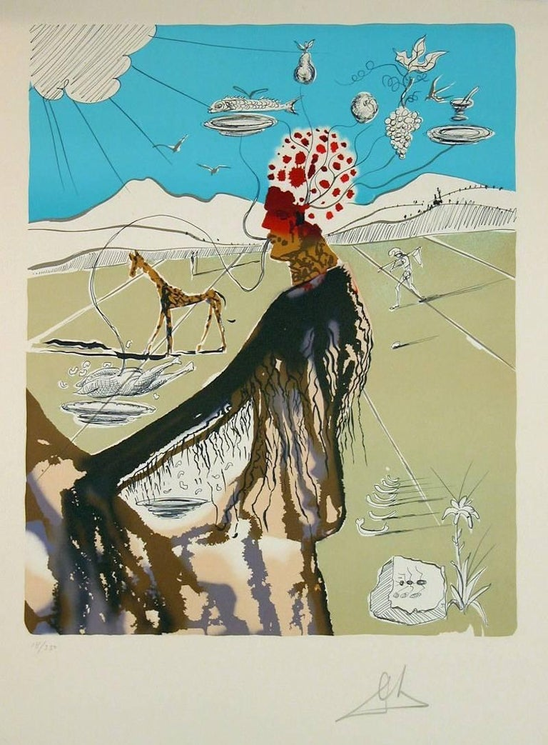 Salvador Dalí Figurative Print - The Earth Goddess (The Chef)