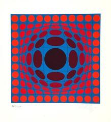 """Victor Vasarely Lithogrpah """"Ive""""  Pencil signed & numbered"""