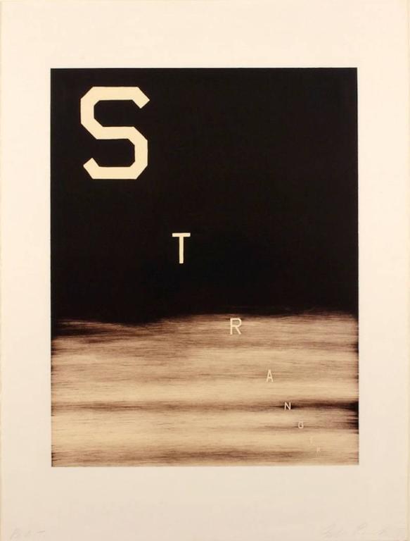 Ed Ruscha Landscape Print - Stranger