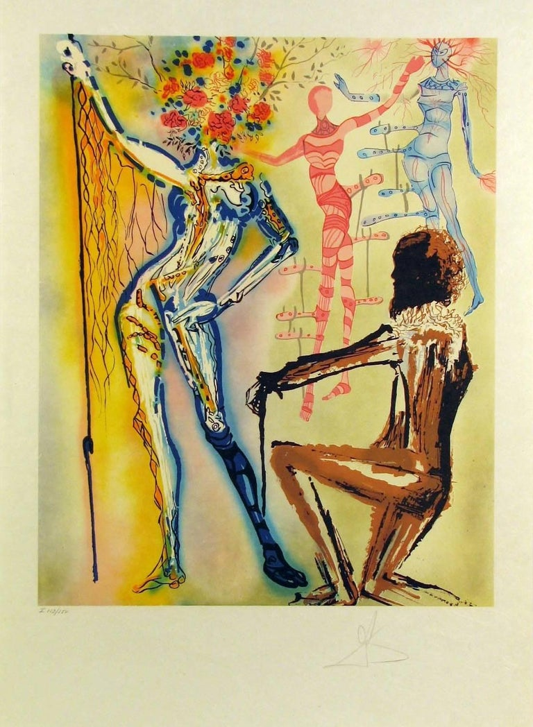 The Ballet of the Flowers (The Fashion Designer) - Print by Salvador Dalí