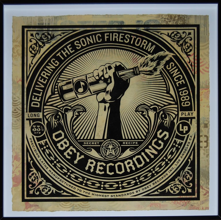 Sonic Firestorm HPM - Print by Shepard Fairey