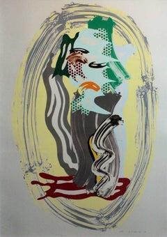 Green Face, from Brushstroke Figures