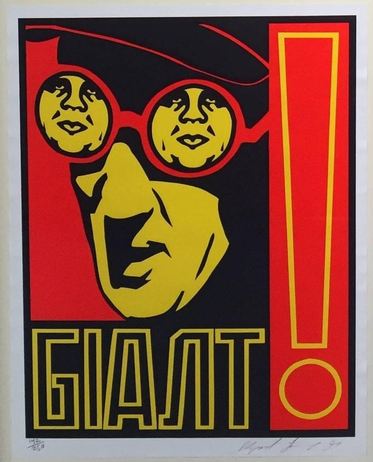 Vintage Shepard Fairey Goggles Sticker From Print Obey Giant