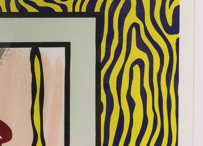 TECHNICAL INFORMATION  Roy Lichtenstein Painting on Blue and Yellow Wall 1984 Woodcut and lithograph 47 3/16 x 31 9/16 in. Edition of 60 Pencil signed, dated and numbered  Accompanied with COA by Gregg Shienbaum Fine Art   Condition: This work is in