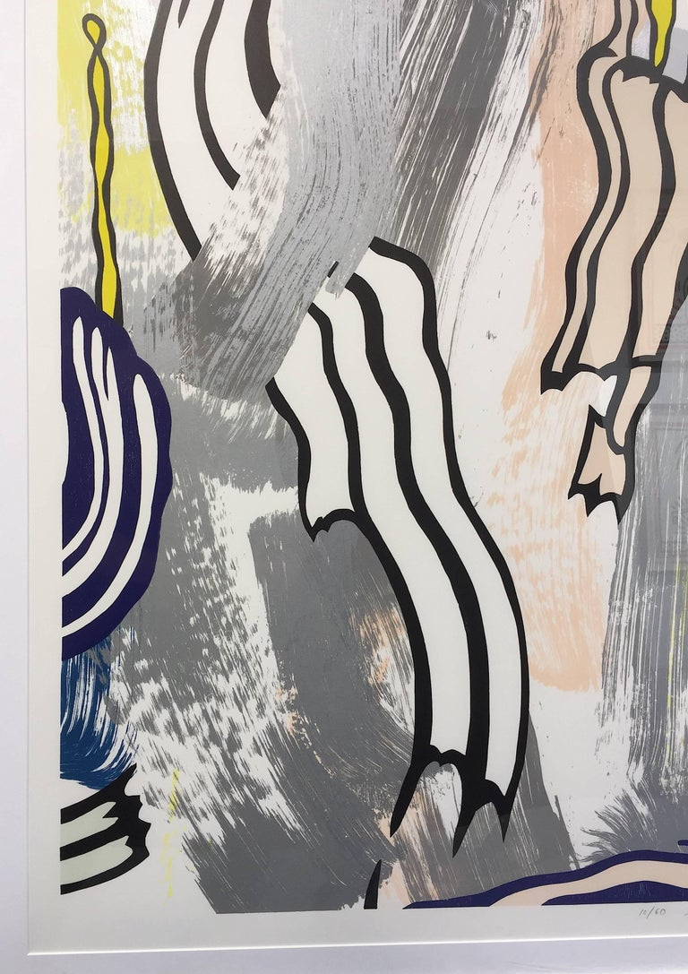 Painting on Blue and Yellow Wall - Print by Roy Lichtenstein