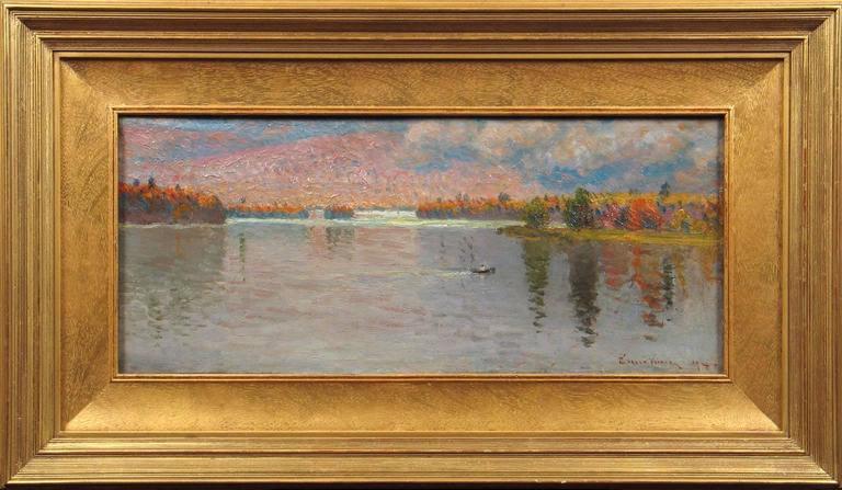 John Joseph Enneking Morning Row Across The Lake