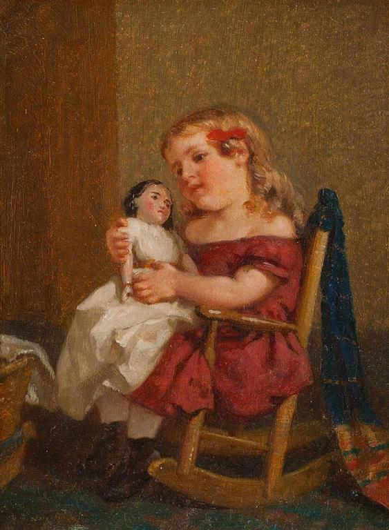 The Nursery - Painting by George Cochran Lambdin