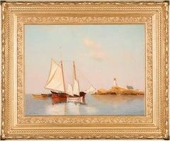 A Schooner off White Island Light, Isle of Shoals, N.H.