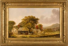 Scenes near New Haven, Connecticut: Autumn and Winter (pair)