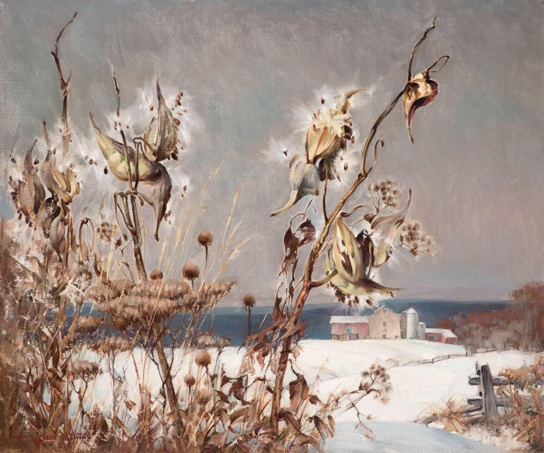 Milkweed in Winter - Painting by Arthur Meltzer