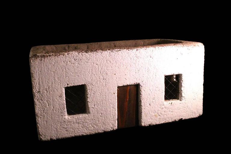 Village House - Sculpture by Unknown