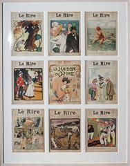 Set of 9 original magazine covers from the French publication 'Le Rire'