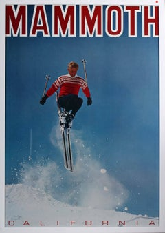 Original 1960's Californian skiing poster