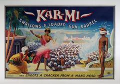 Kar-Mi swallows a loaded Gun Barrel