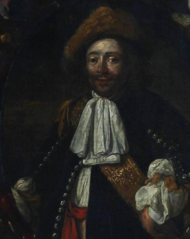 Oragnie Boven - Portrait of Michiel de Ruyter - Black Figurative Painting by Unknown