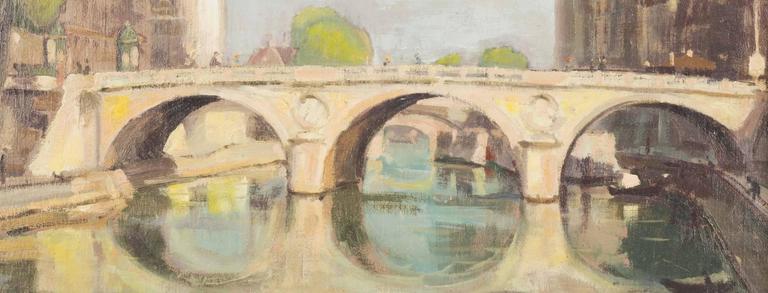 Le Pont Saint Michel, Paris - Painting by Einar Wegener