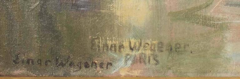 Le Pont Saint Michel, Paris - Impressionist Painting by Einar Wegener
