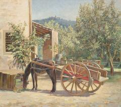 A DONKEY AT A VILLA IN SETTIGNANO, ABOVE FLORENCE