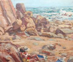 'Bather's on the shore' and 'Sunbathing by the Cliffs'