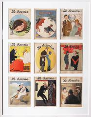 Set of 9 magazine covers for the French Belle époque publication 'Le Sourire'