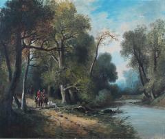 Huntsman at a riverside track