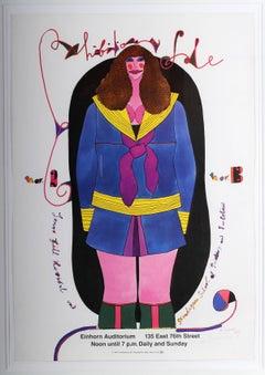 American Pop art artist, Richard Lindner exhibition poster