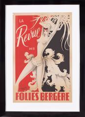 La Revue des Folies Bergere, signed by M. Gyarmathy (Miss Bluebell), 1951